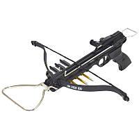 Арбалет пистолетного типа Man Kung 80A3 (длина: 500мм, сила натяжения: 19кг), комплект