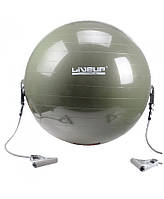 Мяч для фитнеса с эспандером LiveUp Gym Ball With Expander 65 см (LS3227) Green