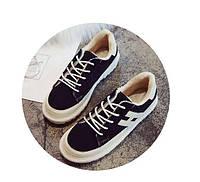 Черные женские зимние кроссовки, фото 1