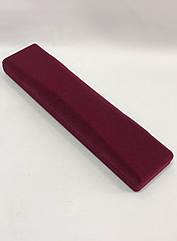 Футляр для браслета, цепи широкий бордовый бархатный 081