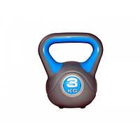 Гиря LiveUp Plastic Kettler Bell 3 кг (LS2047-3) пластиковая насыпная