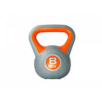 Гиря LiveUp Plastic Kettler Bell 8 кг (LS2047-8) пластиковая насыпная