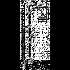 Душевая стойка Emmevi DECO classic душ/колонна золото OR1200281, фото 2
