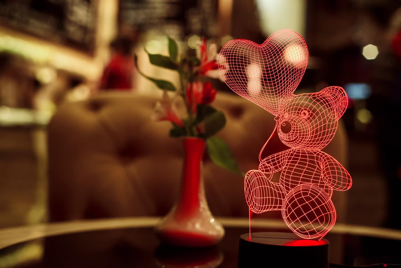 """Ночник 3D """"Мишка с шариком"""" 3DTOYSLAMP, фото 1"""
