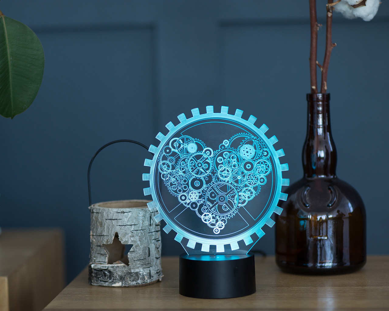 """3d светильник """"Механическое сердце"""" 3DTOYSLAMP, фото 1"""