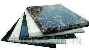 Finishing with granite and marble.