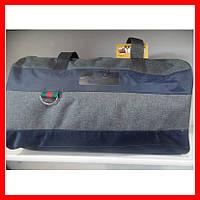 Сумка спортивная дорожная 0082-2 Nike серая с синим, фото 1