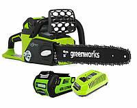Аккумуляторная цепная пила GreenWorks G-MAX 40V 16-inch DigiPro 20312 ( GD40CS40К2 )  с аккумулятором 2 А.ч.
