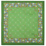 Ромашки 1127-10, павлопосадский платок на голову хлопковый (саржа) с подрубкой Стандарт, фото 3