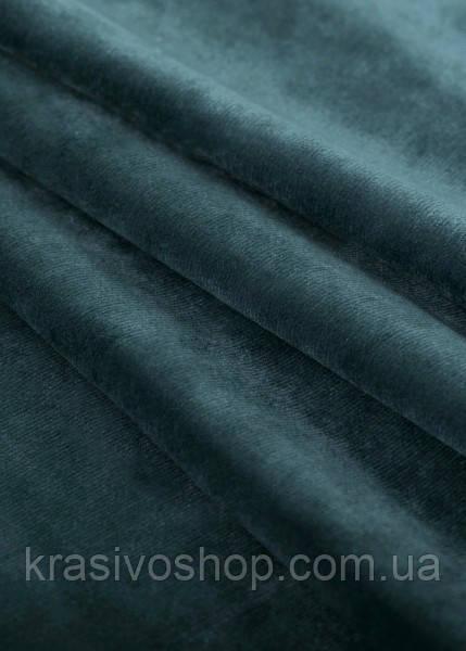 Однотонный бархат синий