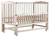 Кровать Babyroom Веселка маятник, откидной бок DVMO-2  бук слоновая кость, фото 3