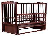 Кровать Babyroom Веселка маятник, откидной бок DVMO-2  бук тик, фото 2