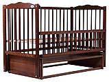 Кровать Babyroom Веселка маятник, откидной бок DVMO-2  бук орех, фото 2