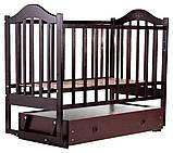 Кровать Babyroom Дина D303 маятник, ящик  венге, фото 2