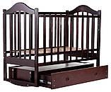 Кровать Babyroom Дина D303 маятник, ящик  венге, фото 4