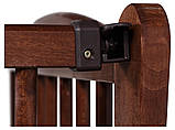 Кровать Babyroom Еліт резьба, маятник, откидной бок DER-6  бук орех, фото 5