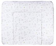 Пеленальний матрац Ceba Baby WD 85*70 multi зайці, пташки білий