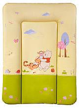 Пеленальний матрац Ceba Baby CE-102 small winnie the pooh беж - салат