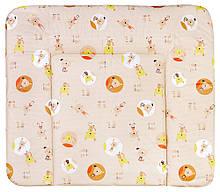 Пеленальний матрац Ceba Baby WD 85*70 multi cat & dog бежевий