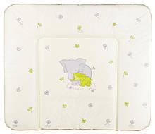 Пеленальний матрац Ceba Baby WD 85*70 multi слоники салатовий