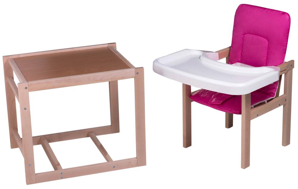 Стульчик- трансформер For Kids Клен-01 ЕСО пластиковая столешница  малиновый