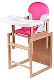 Стульчик- трансформер For Kids Бук-02 светлый пластиковая столешница  розовый, фото 2