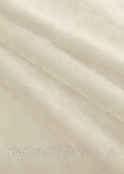 Однотонный бархат крем брюле