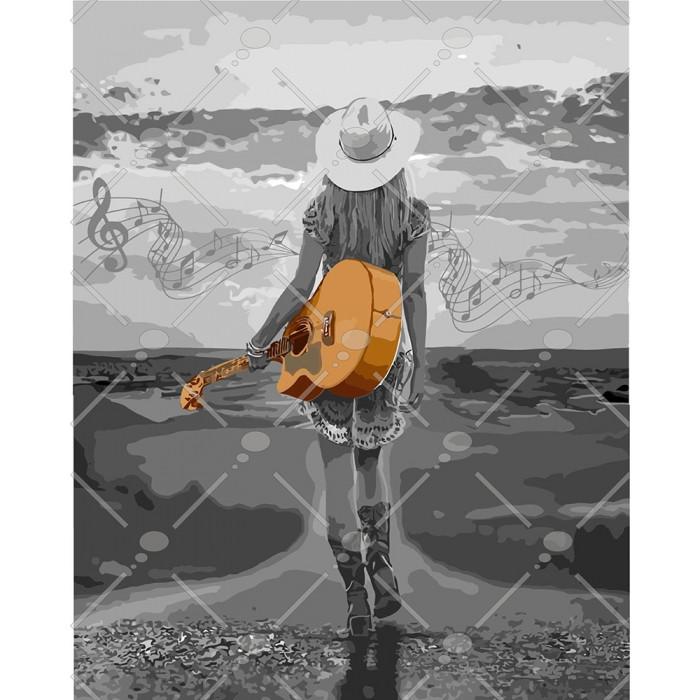 Картина по номерам На хвилях музики, 40x50 см., Идейка