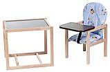 Стульчик- трансформер Babyroom Карапуз-100 eko МДФ столешница  голубой (винни пух), фото 2