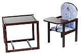 Стульчик- трансформер Babyroom Карапуз-120 тонированный МДФ столешница  голубой (винни пух), фото 2