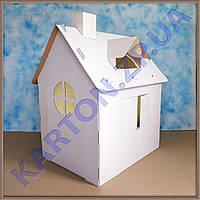 Детский домик из картона - сохрани обои в доме!!! Картонный домик для рисования и игр.