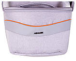 Коляска 2 в 1 Adamex Monte Deluxe Carbon D35 св.серый лен - св.серая кожа - оранжевый кант (оранжевая ручка), фото 8