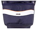 Коляска 2 в 1 Adamex Monte Deluxe Carbon D29 т.синий лен - белая кожа - рыжий кант (рыжая ручка), фото 8