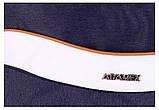 Коляска 2 в 1 Adamex Monte Deluxe Carbon D29 т.синий лен - белая кожа - рыжий кант (рыжая ручка), фото 9