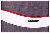 Коляска 2 в 1 Adamex Monte Deluxe Carbon D31 серый лен - белая кожа - красный кант (красная ручка), фото 9