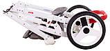 Коляска 2 в 1 Adamex Monte Deluxe Carbon D31 серый лен - белая кожа - красный кант (красная ручка), фото 10