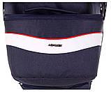 Коляска 2 в 1 Adamex Monte Deluxe Carbon D32 т.синий лен - белая кожа - красный кант (красная ручка), фото 8