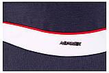 Коляска 2 в 1 Adamex Monte Deluxe Carbon D32 т.синий лен - белая кожа - красный кант (красная ручка), фото 9