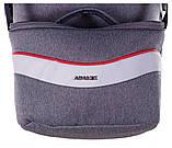 Коляска 2 в 1 Adamex Monte Deluxe Carbon PR42 серый лен - св.серая кожа - красный кант (черная ручка), фото 8