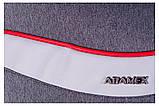 Коляска 2 в 1 Adamex Monte Deluxe Carbon PR42 серый лен - св.серая кожа - красный кант (черная ручка), фото 9