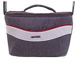 Коляска 2 в 1 Adamex Monte Deluxe Carbon D5 серый лен - св.серая кожа - красный кант (красная ручка), фото 7