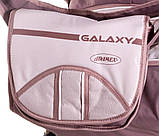 Коляска трансформер Adamex Galaxy  шоколад-капучино-капучино (палочки), фото 3