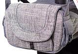 Коляска 2 в 1 Adamex Erika Eco 603K серый (лен) - серый (плетение), фото 3