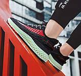 Тканевые черные легкие мужские кроссовки, фото 3