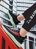 Тканевые черные легкие мужские кроссовки, фото 4