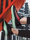 Тканевые черные легкие мужские кроссовки, фото 6