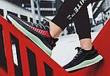 Тканевые черные легкие мужские кроссовки, фото 7
