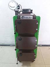 Твердотопливный котел SteelArt SA-15 кВт длительного горения 6 мм, фото 3