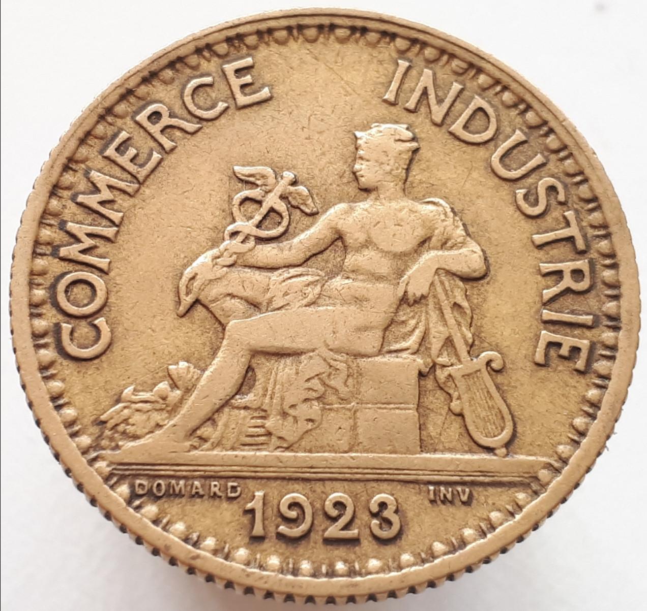 Франция 1 франк 1923