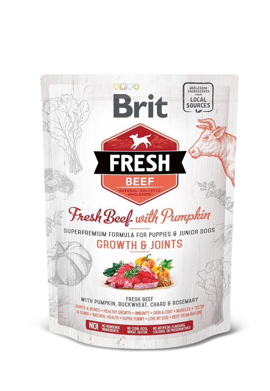 Сухой корм для щенков крупных пород Brit Fresh Puppy Large Beef Pumpkin